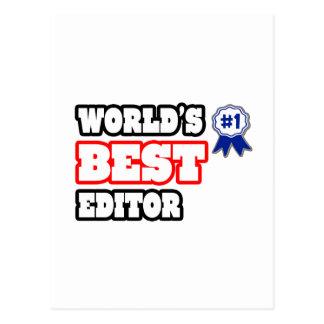 World's Best Editor Postcard