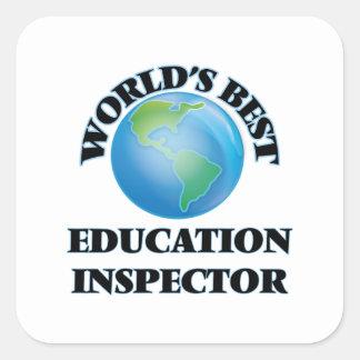 World's Best Education Inspector Square Sticker