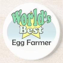 World's best Egg Farmer Sandstone Coaster