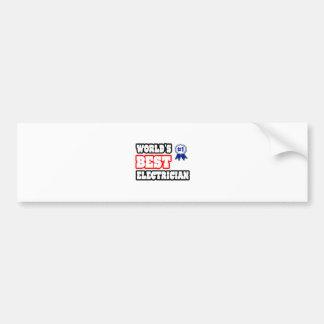 World's Best Electrician Car Bumper Sticker