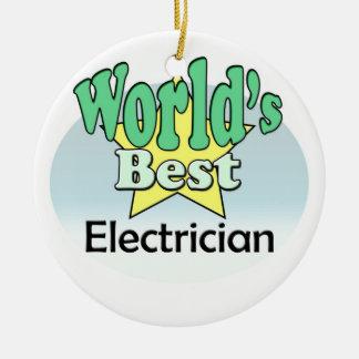 World's best Electrician Ceramic Ornament