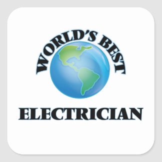 World's Best Electrician Square Sticker