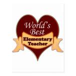 World's Best Elementary School Teacher Post Card