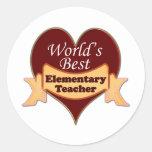 World's Best Elementary School Teacher Stickers