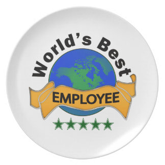 World's Best Employee Melamine Plate