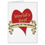 World's Best Employee of the Month Card