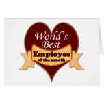 World's Best Employee of the Month Cards