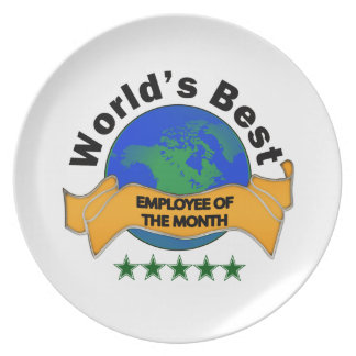 World's Best Employee of the Month Dinner Plate
