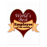 World's Best Employee of the Month Post Cards
