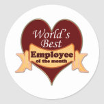 World's Best Employee of the Month Stickers
