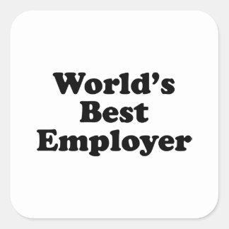 World's Best Employer Square Sticker