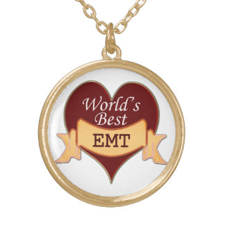 World's Best EMT Round Pendant Necklace