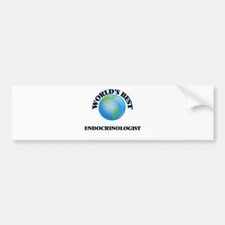 World's Best Endocrinologist Car Bumper Sticker