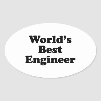 World's Best Engineer Oval Sticker