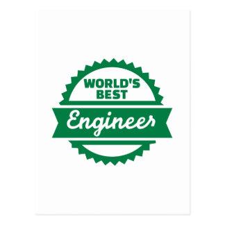 World's best Engineer Postcard