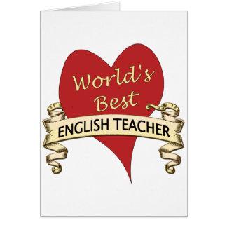 World's Best English Teacher Card