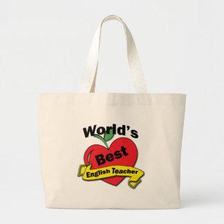 World's Best English Teacher Large Tote Bag