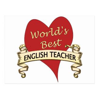 World's Best English Teacher Postcard
