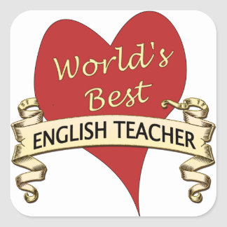 World's Best English Teacher Square Sticker