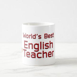World's Best English Teacher with Books Coffee Mug