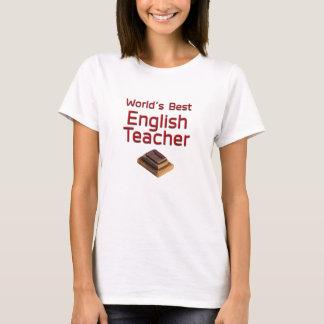World's Best English Teacher with Books T-Shirt