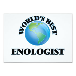 World's Best Enologist 5x7 Paper Invitation Card