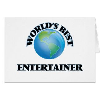 World's Best Entertainer Card