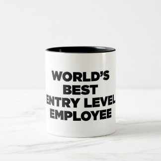 World's Best Entry Level Employee Two-Tone Coffee Mug