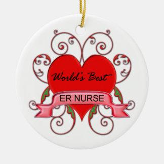 World's Best ER Nurse Christmas Ornaments