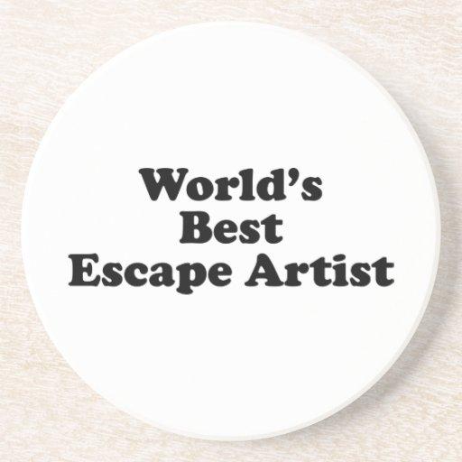 World's Best Escape Artist Beverage Coaster