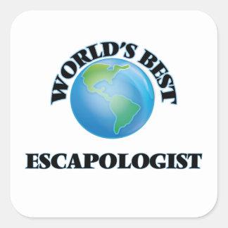 World's Best Escapologist Square Sticker