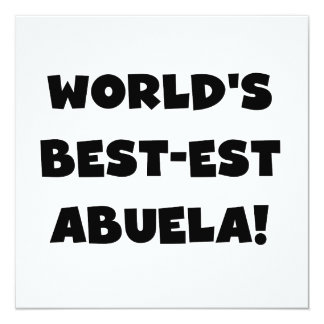 World's Best-est Abuela Black and White Gifts Card