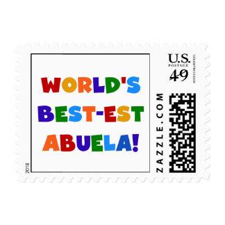 World's Best-est Abuela Bright Colors Tshirts Postage