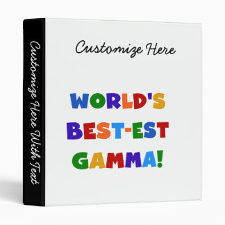 World's Best-est Gamma Bright Colors Gifts Binder