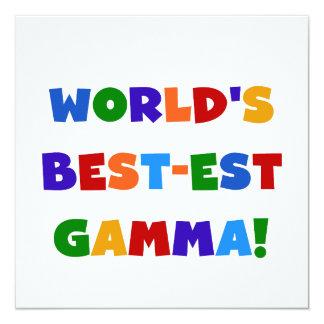 World's Best-est Gamma Bright Colors Gifts 5.25x5.25 Square Paper Invitation Card