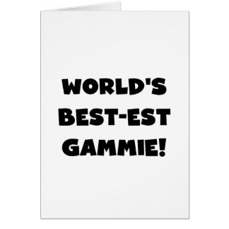 World's Best-est Gammie Black and White Gifts Card