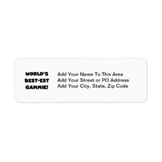 World's Best-est Gammie Black and White Gifts Label