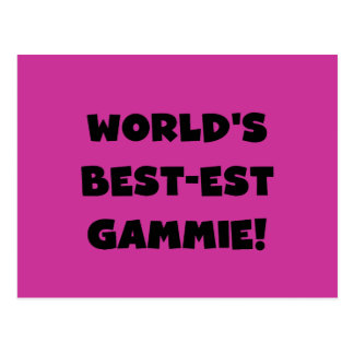 World's Best-est Gammie Black and White Gifts Postcard