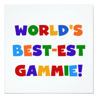 World's Best-est Gammie Bright Colors Gifts Card