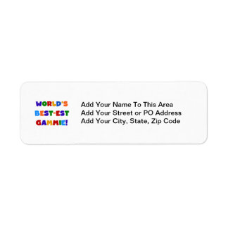 World's Best-est Gammie Bright Colors Gifts Label