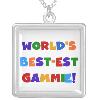 World's Best-est Gammie Bright Colors Gifts Square Pendant Necklace