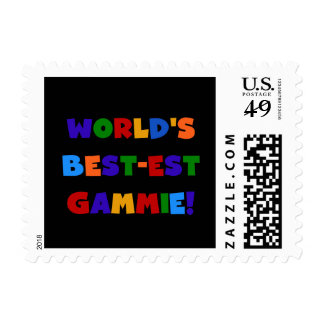 World's Best-est Gammie Bright Colors Gifts Postage