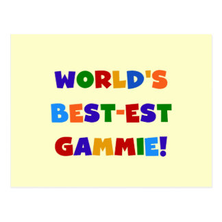 World's Best-est Gammie Bright Colors Gifts Postcard