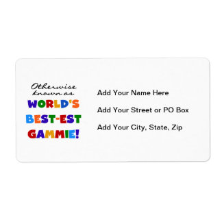 World's Best-est Gammie T-shirts and Gifts Label