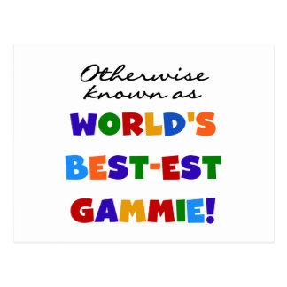 World's Best-est Gammie T-shirts and Gifts Postcard