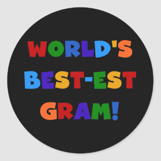 World's Best-est Gram Bright Colors Gifts Classic Round Sticker
