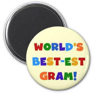 World's Best-est Gram Bright Colors Gifts Refrigerator Magnet