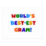 World's Best-est Gram Bright Colors Gifts Post Card