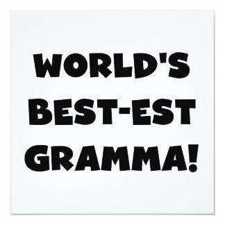 World's Best-est Gramma Black or White Card