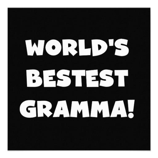 World's Best-est Gramma Black or White Announcement